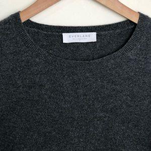 Everlane Cashmere Crew Neck Grey Heathered Sweater